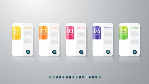Diseño de plantilla de negocio elemento gráfico infográfico.