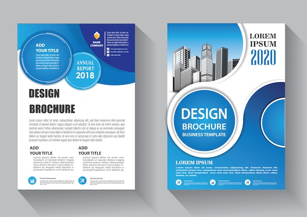 Diseño de plantilla de negocio de flyer de cubierta para folleto e informe anual