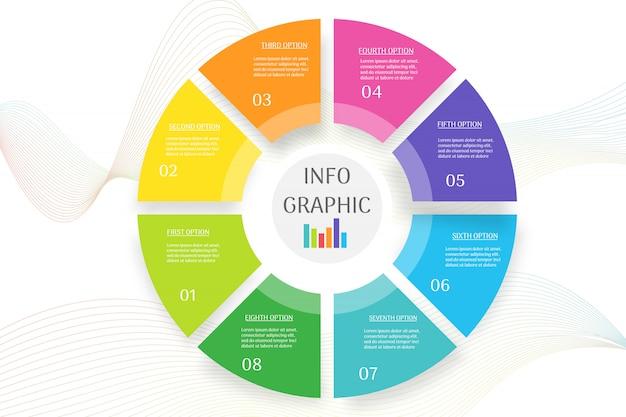 Diseño de plantilla de negocio infografía elemento gráfico para presentaciones.