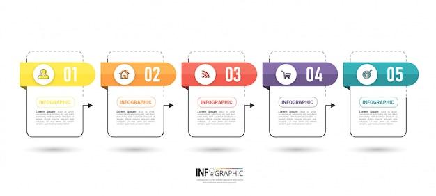 Diseño de plantilla de negocio de infografía.