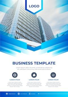 Diseño de plantilla de negocios con foto