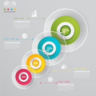 Diseño de plantilla de opciones de negocios infografía moderna.