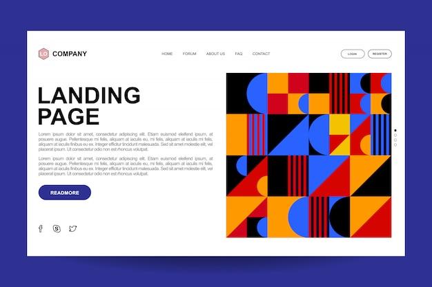 Diseño de plantilla de página de destino geográfico abstracto