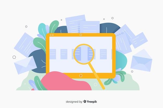 Diseño de plantilla de página de destino para sitios web comerciales