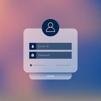 Diseño de plantilla de página de inicio de sesión de usuario del sitio web