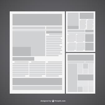 Diseño de plantilla de periódico Vector Premium