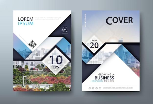 Diseño de plantilla de portada de libro de volante de informe anual