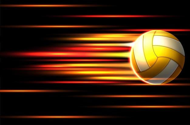 Diseño de plantilla de póster de torneo de voleibol