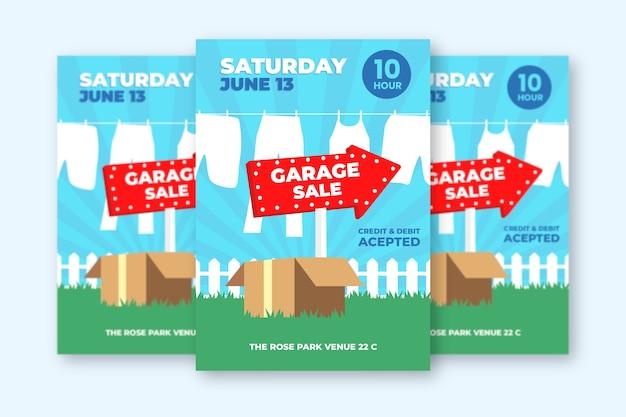 Diseño de plantilla de póster de venta de garaje
