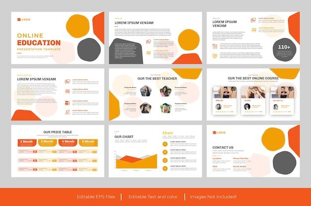 Diseño de plantilla de powerpoint de presentación de educación