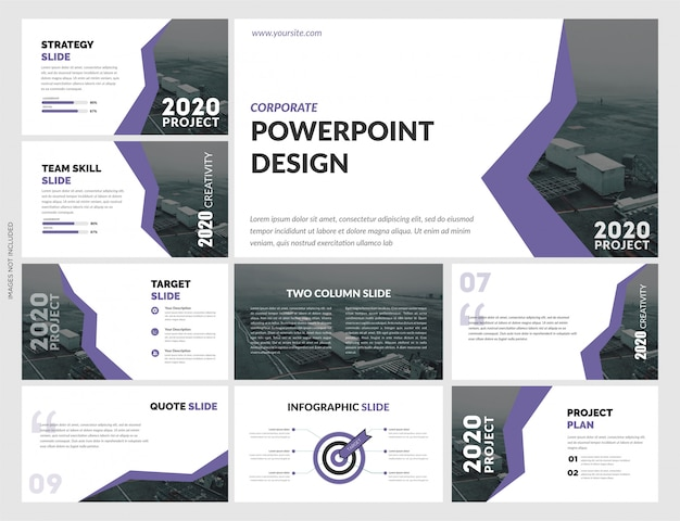 Diseño de plantilla de presentación creativa