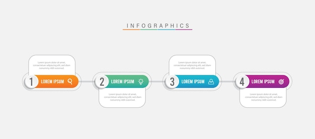Diseño de plantilla de presentación infográfica