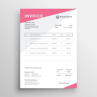 Diseño de plantilla de presupuesto de factura elegante