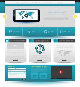 Diseño de plantilla de sitio web concepto de tecnología de smartphone