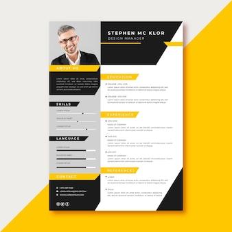Diseño de plantilla de solicitud de empleo