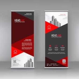 Diseño de plantilla de soporte banner vertical