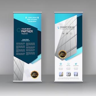 Diseño de plantilla de soporte de banner vertical