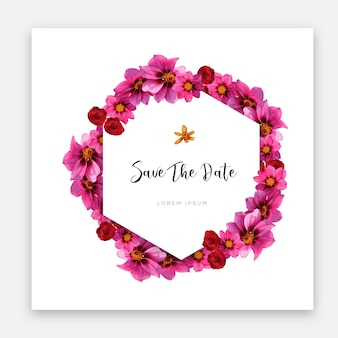 Diseño de plantilla de tarjeta de boda moderna