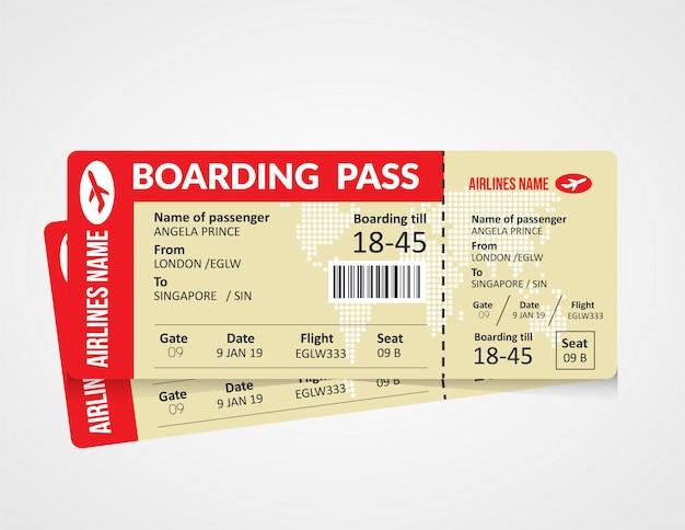Diseño de plantilla de tarjeta de embarque
