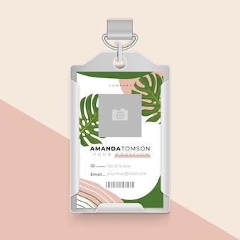 Diseño de plantilla de tarjeta de identificación comercial