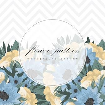 Diseño de plantilla de tarjeta de invitación de felicitación botánica