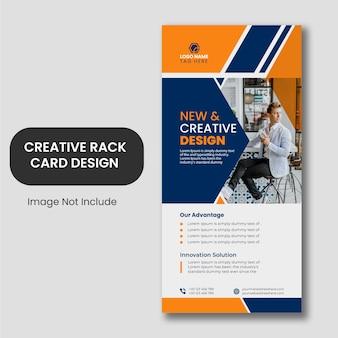 Diseño de plantilla de tarjeta de rack de moda creativa