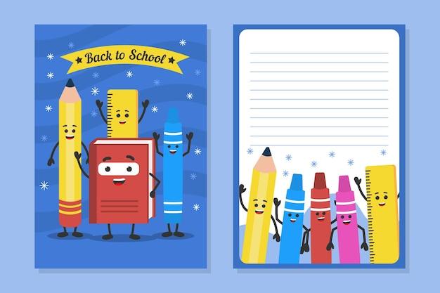 Diseño de plantilla de tarjeta de regreso a la escuela