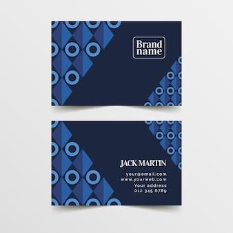 Diseño de plantilla de tarjeta de visita abstracta