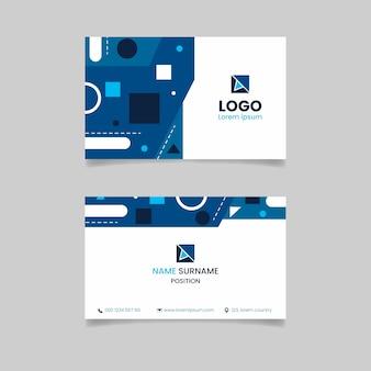 Diseño de plantilla de tarjeta de visita azul clásica
