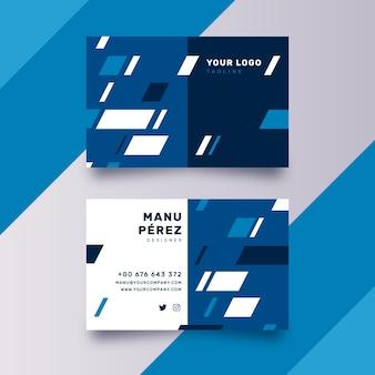 Diseño de plantilla de tarjeta de visita azul clásico abstracto