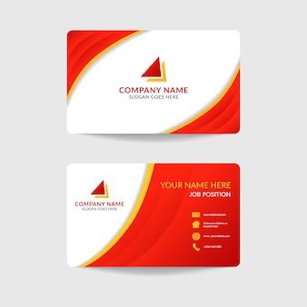 Diseño de plantilla de tarjeta de visita corporativa moderna