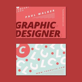 Diseño de plantilla de tarjeta de visita de diseñador