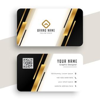 Diseño de plantilla de tarjeta de visita dorada geométrica