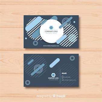 Diseño de plantilla de tarjeta de visita en estilo abstracto