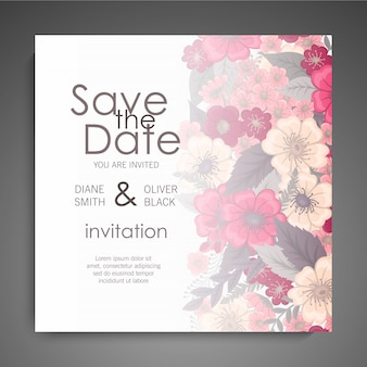 Diseño de plantilla de tarjeta de visita floral