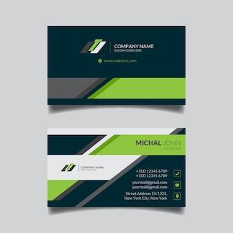 Diseño de plantilla de tarjeta de visita geométrica abstracta