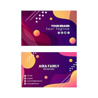 Diseño de plantilla de tarjeta de visita horizontal de doble cara seo