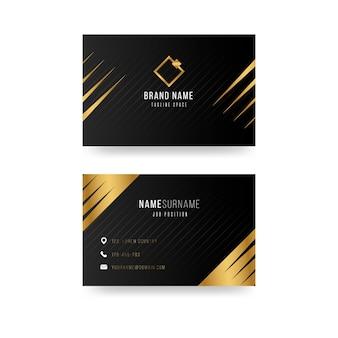 Diseño de plantilla de tarjeta de visita de lujo