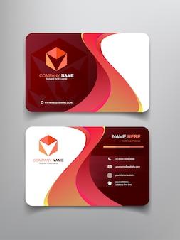 Diseño de plantilla de tarjeta de visita con marco abstracto