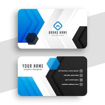 Diseño de plantilla de tarjeta de visita moderna y elegante