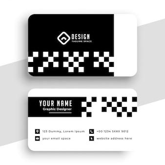 Diseño de plantilla de tarjeta de visita moderna de estilo a cuadros