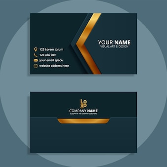 Diseño de plantilla de tarjeta de visita moderna
