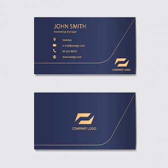Diseño de plantilla de tarjeta de visita moderna.