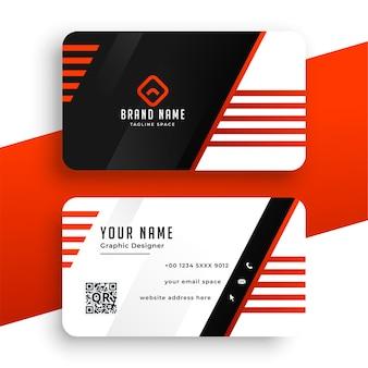 Diseño de plantilla de tarjeta de visita profesional de empresa roja