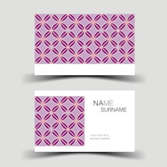 Diseño de plantilla de tarjeta de visita púrpura