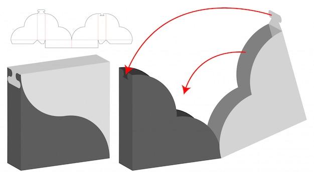 Diseño de plantilla troquelada caja de embalaje