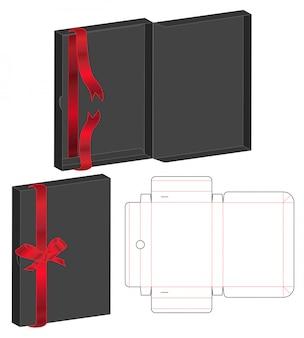 Diseño de plantilla troquelada caja de embalaje.