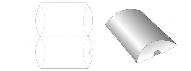 Diseño de plantilla troquelada de embalaje de almohada