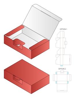 Diseño de plantilla troquelada de embalaje de caja modelo 3d