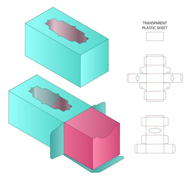 Diseño de plantilla troquelada de embalaje de caja